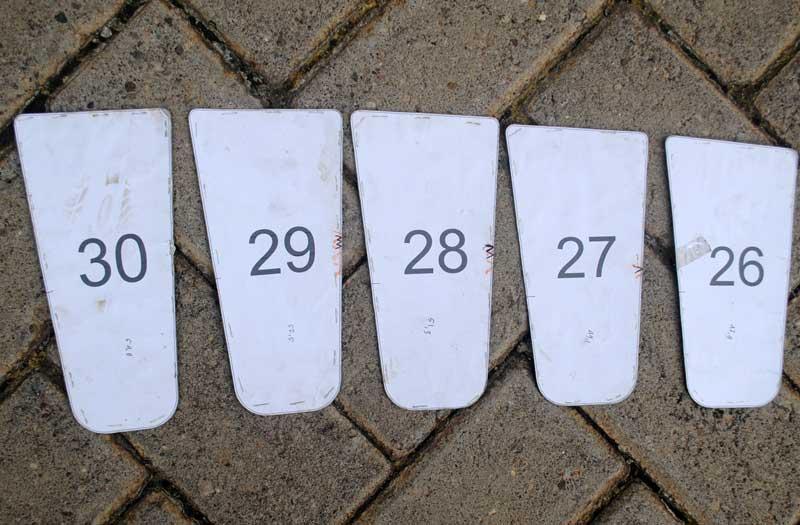 Mal pisau sandal yang sudah siap digunakan
