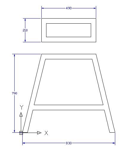 Ukuran tinggi , panjang lebar dari meja alat pon