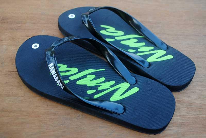 sandal penggemar kawasaki ninja