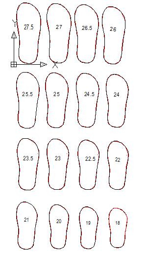 Profil pisau ukuran mulai panjang 18 sentimeter sampai 27.5 sentimeter