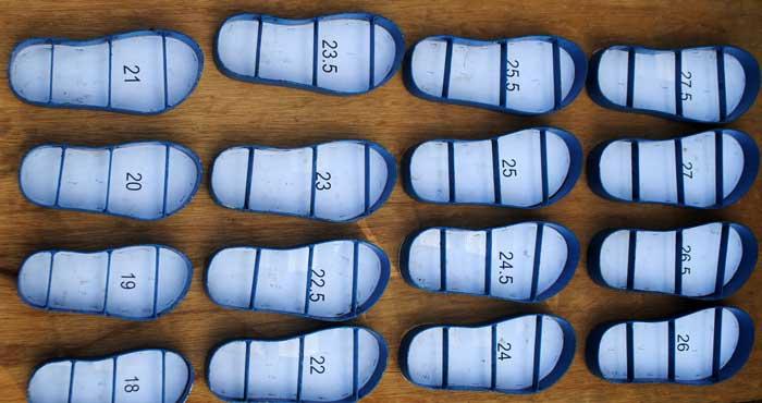 Pisau pond sandal telah dibuat sesuai gambar yang diinginkan
