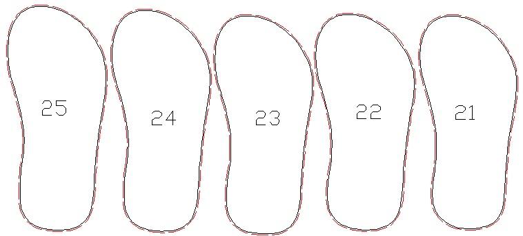 Ukuran pisaua anak 21-25