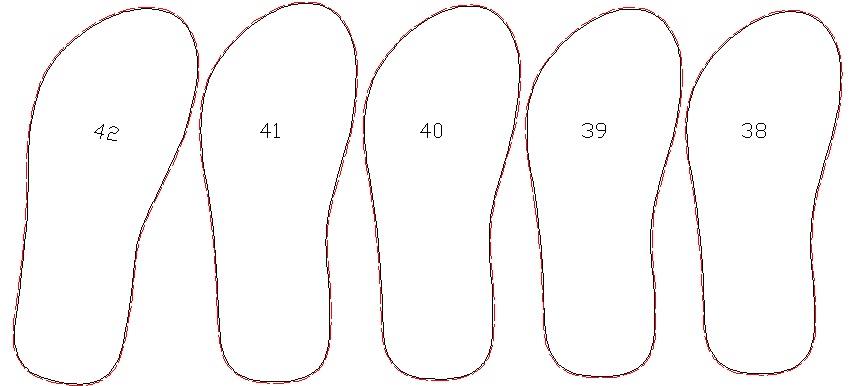 Pisau ukuran 38 - 42 dengan referensi ukuran 41
