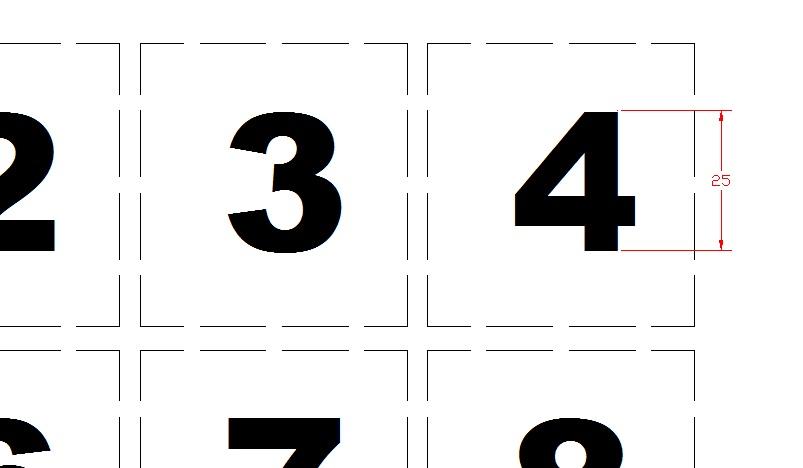 Tinggi huruf 2.5 sentimeter jenis font arial black
