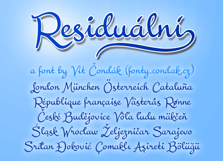 residualni font