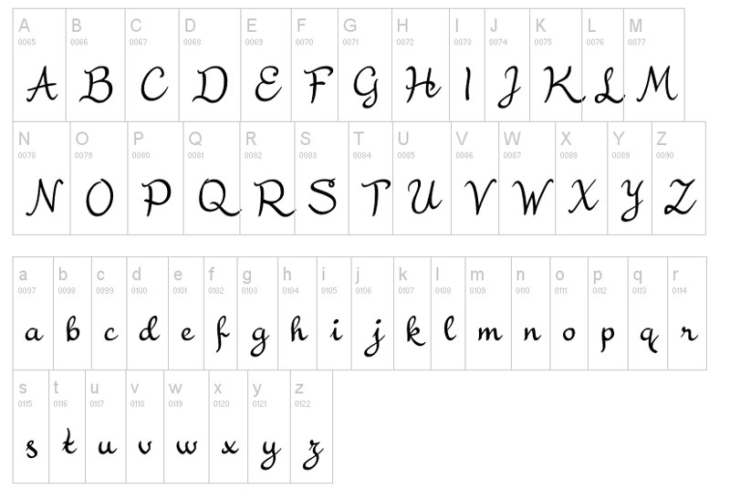 tipe-font-handwritten
