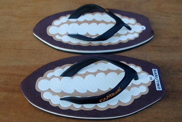 contoh-kreasi-membuat-sandal-sesuai-bentuk-coklat