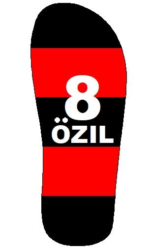 desain sandal mesut ozil