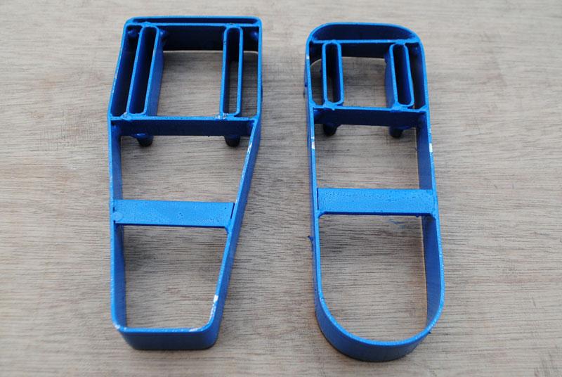Cetakan untuk membuat tas obeng dari bahan kulit